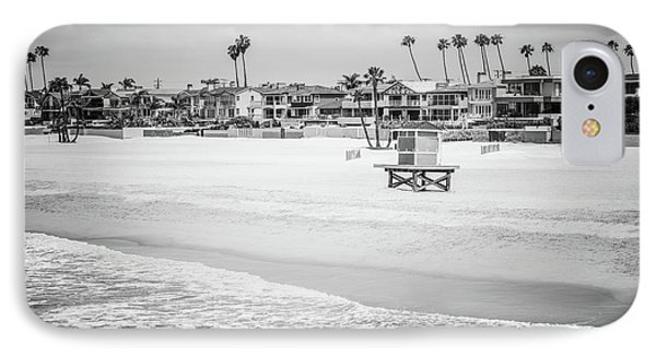 Seal Beach California Black And White Picture IPhone Case by Paul Velgos