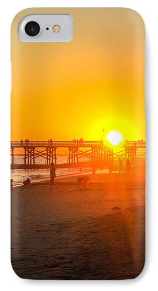 Seal Beach Pier Sunset IPhone Case by Mark Barclay