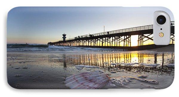 Seal Beach Shell IPhone Case by Sean Davey