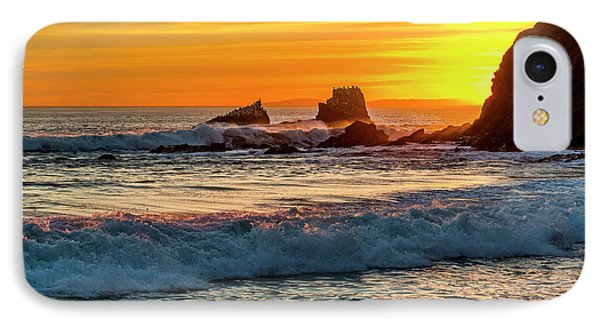 Seal Rock Sunset IPhone Case by Kelley King