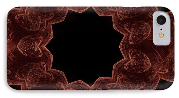 Seamless Kaleidoscope Copper IPhone Case