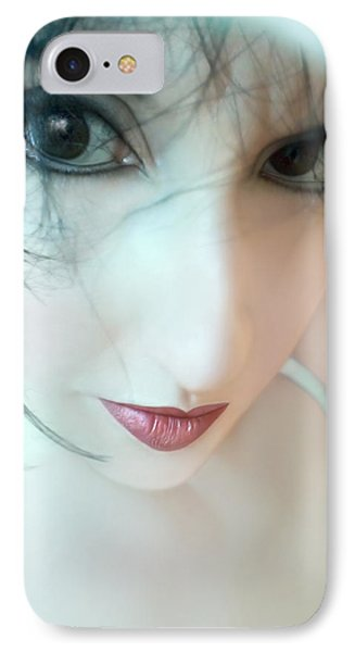 Searching For Innocence Lost - Self Portrait IPhone Case by Jaeda DeWalt