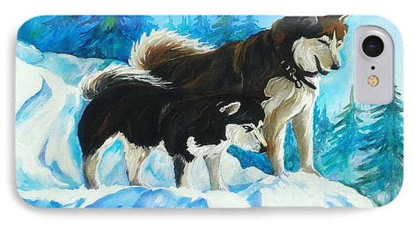 Searching Huskies Phone Case by Marla Hoover