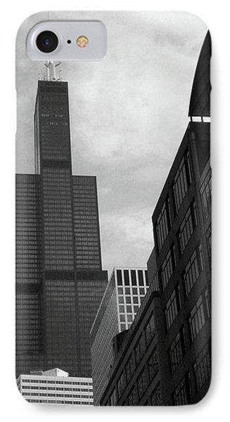Sears Tower B-w IPhone Case by Ely Arsha