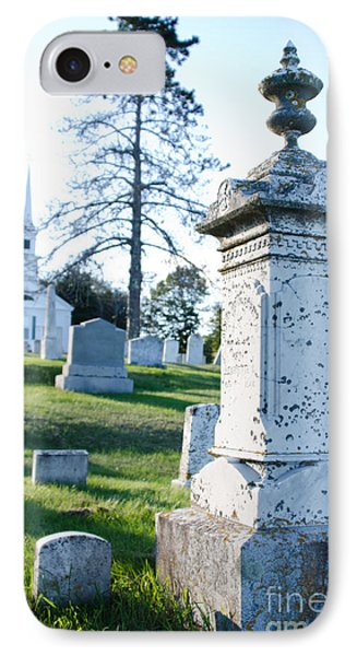 Searsport Cemetery IPhone Case by Jennifer Booher