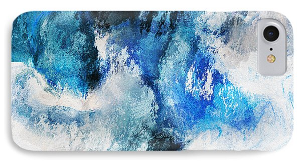 Seascape Abstract Painting - Minimalist Waves IPhone Case