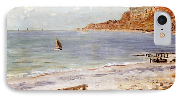 Boat iPhone 7 Case - Seascape At Sainte Adresse  by Claude Monet