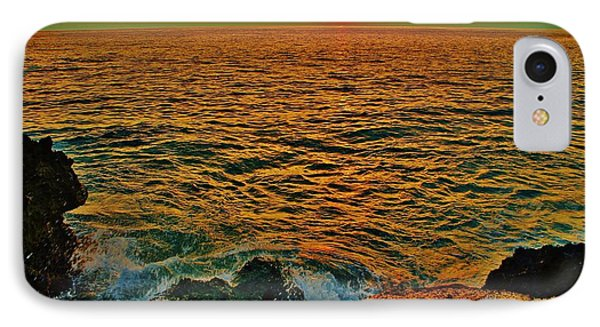 IPhone Case featuring the photograph Seascape In Orange And Green by Craig Wood