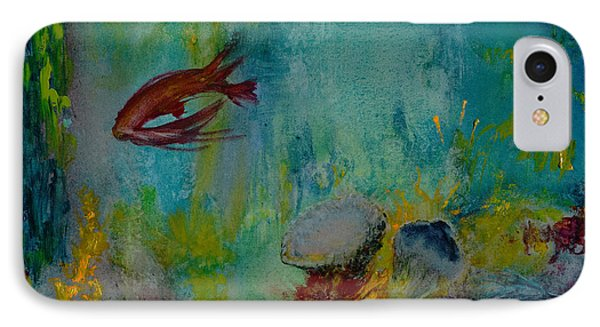 IPhone Case featuring the painting Seascape by Karen Fleschler