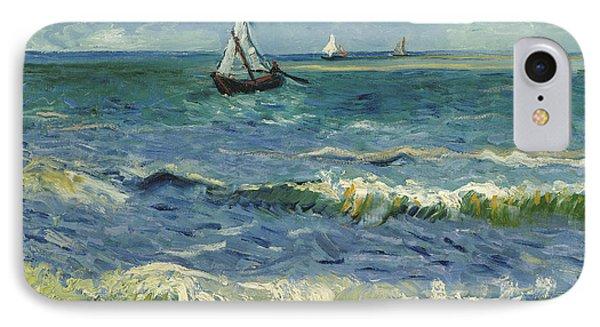 Seascape Near Les Saintes Maries De La Mer IPhone Case by Vincent van Gogh