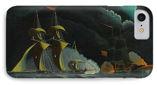 Seascape, Night Scene With Pirate Ships IPhone Case