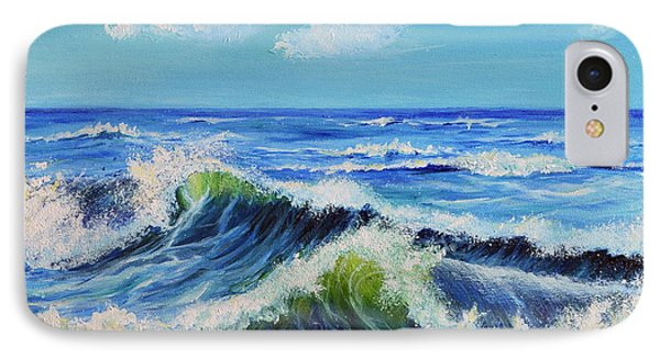 IPhone Case featuring the painting Seascape No.3 by Teresa Wegrzyn