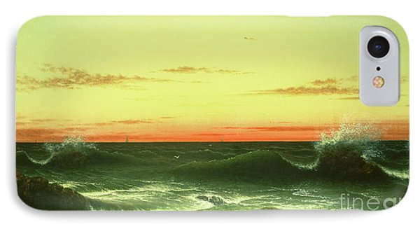 Seascape Sunset 1861 Phone Case by Martin Johnson Heade