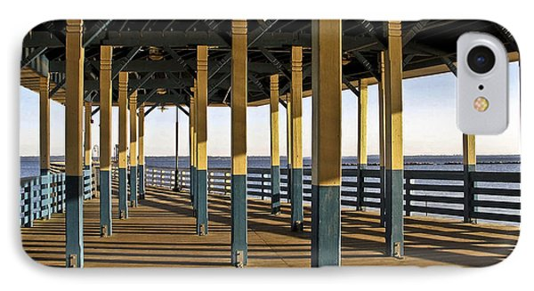 Seascape Walk On The Pier IPhone Case by Carol F Austin