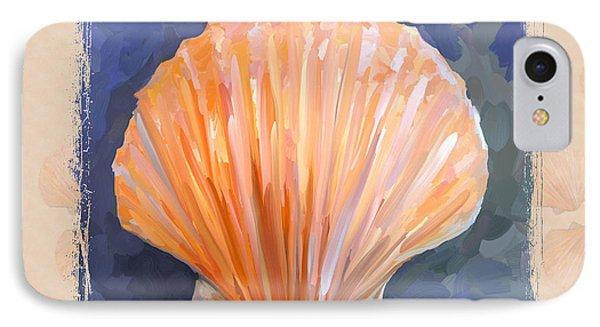 Seashell I Grunge With Border Phone Case by Jai Johnson
