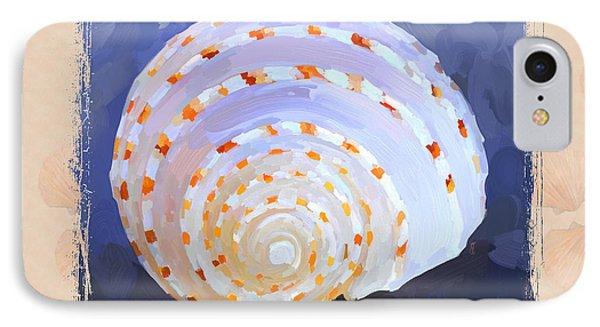 Seashell Iv Grunge With Border Phone Case by Jai Johnson