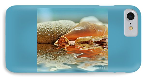 Seashell Reflections On Water Phone Case by Kaye Menner