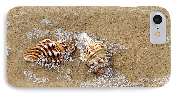 Seashells And Bubbles 2 Phone Case by Kaye Menner