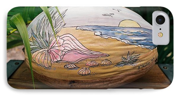 IPhone Case featuring the mixed media Seashore by Nancy Taylor