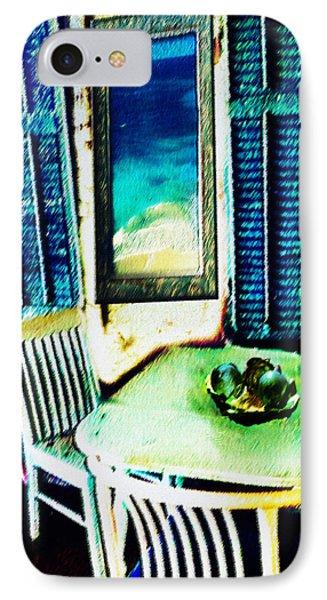 Seaside Cafe IPhone Case