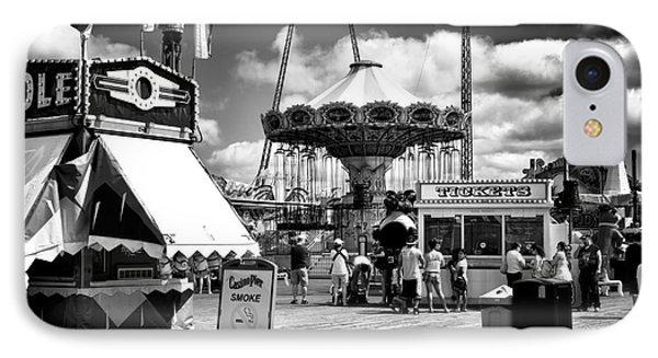 Seaside Heights Casino Pier Mono IPhone Case by John Rizzuto
