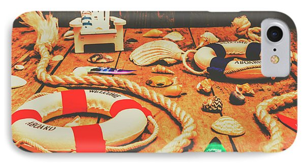 Seaside Ropes And Nautical Decks IPhone Case by Jorgo Photography - Wall Art Gallery