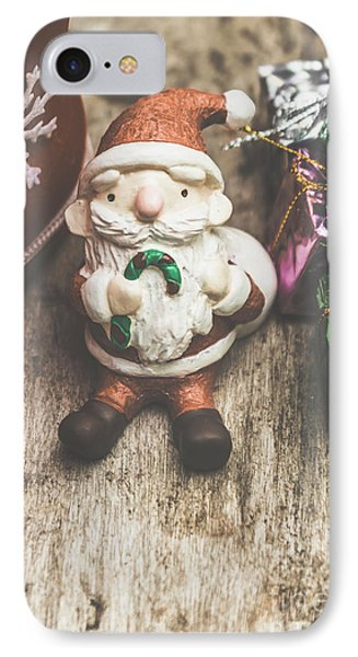Seasons Greeting Santa IPhone Case by Jorgo Photography - Wall Art Gallery