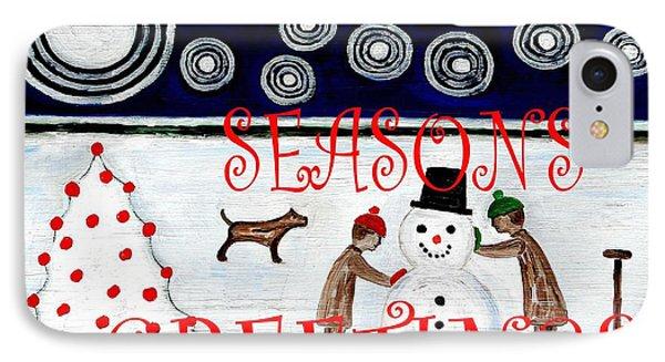 Seasons Greetings 14 Phone Case by Patrick J Murphy