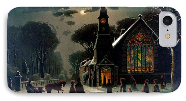 Seasons Greetings, Happy Holidays, 1878 IPhone Case