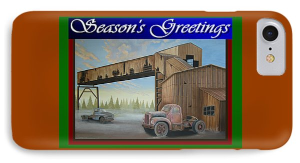 IPhone Case featuring the painting Season's Greetings Old Mine by Stuart Swartz