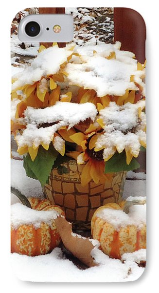 Seasons Meet And Greet IPhone Case by Ann Johndro-Collins