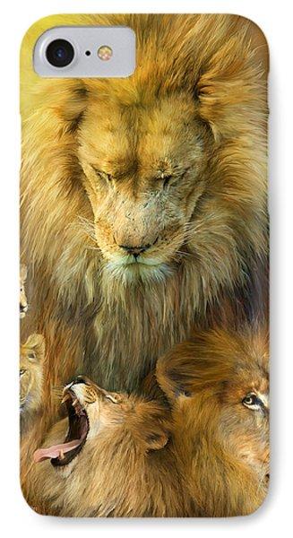 Seasons Of The Lion Phone Case by Carol Cavalaris