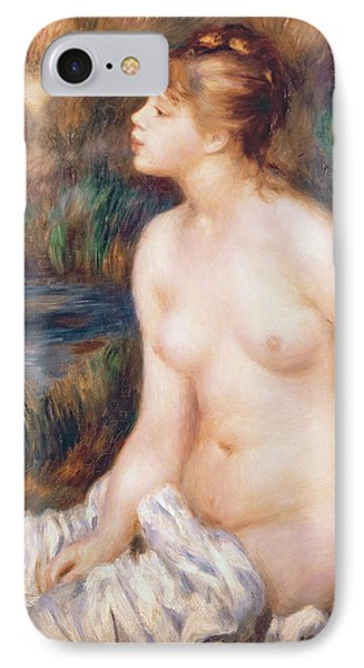 Seated Female Nude Phone Case by Renoir
