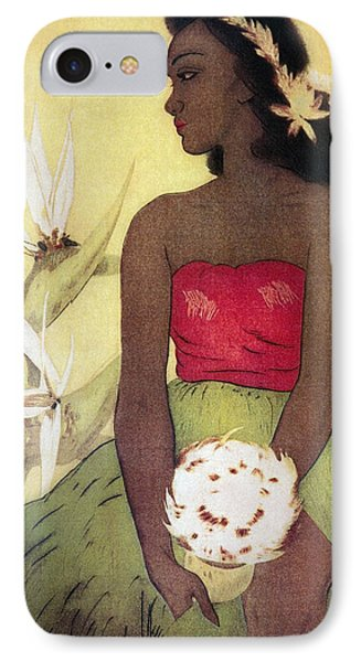 Seated Hula Dancer Phone Case by Hawaiian Legacy Archives - Printscapes