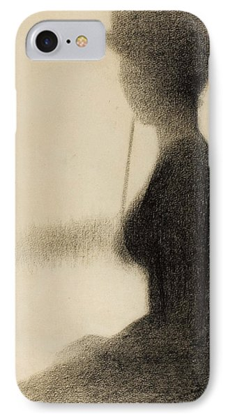 Seated Woman With A Parasol Study For La Grande Jatte IPhone Case