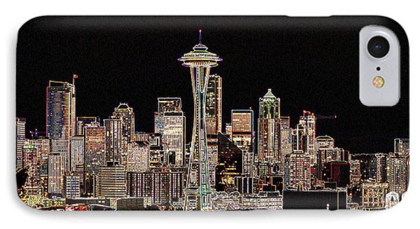 Seattle A Glow IPhone Case