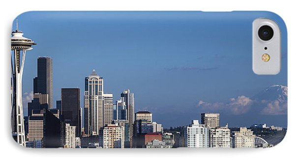 Seattle And Mt Rainier IPhone Case