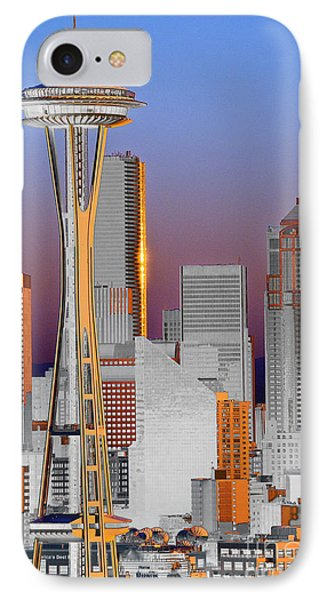Seattle Architecture Phone Case by Larry Keahey