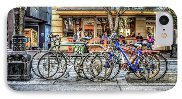 IPhone Case featuring the photograph Seattle Bicycles by Spencer McDonald