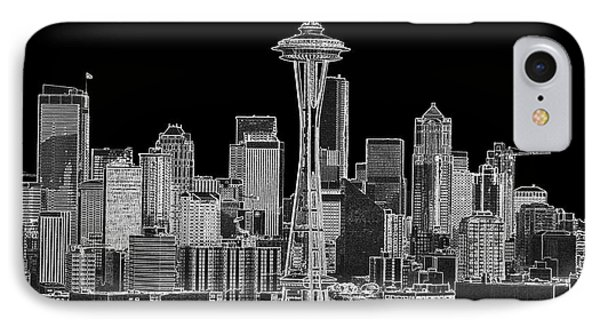 Seattle Black And White IPhone Case