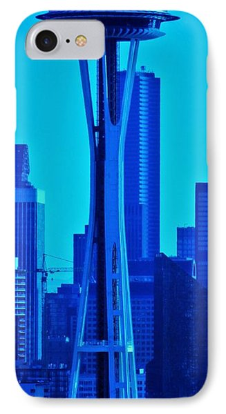 Seattle Blue IPhone Case by Martin Cline