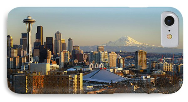 Seattle Cityscape IPhone Case by Greg Vaughn - Printscapes