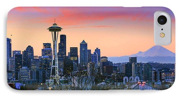 Seattle Waking Up IPhone Case by Inge Johnsson