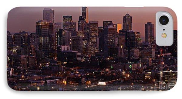 Seattle Dusk Phone Case by Mike Reid