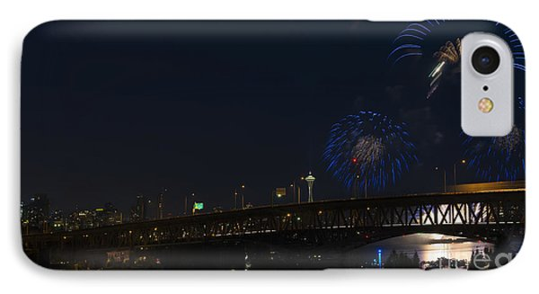 Seattle Fireworks IPhone Case by Mike Dawson