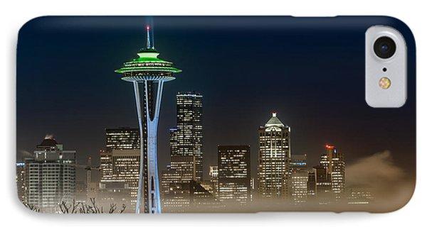 Seattle Foggy Night Lights IPhone Case