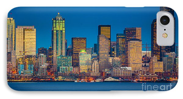 Seattle From Alki Beach IPhone Case by Inge Johnsson