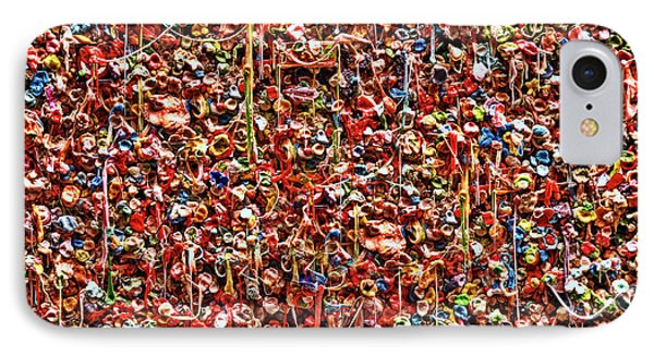 Seattle Gum Wall 2 IPhone Case by Allen Beatty
