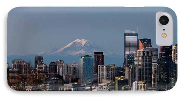 Seattle-mt. Rainier In The Morning Light .1 IPhone Case