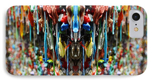 Seattle Post Alley Gum Wall Reflection IPhone Case by Pelo Blanco Photo